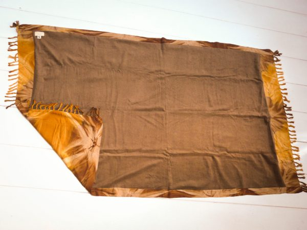 Sarong towel yellow/brown